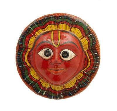 Mask Hat and Mitten Set Sun Surya Dance Indra Jatra Nepal Paper Mache Mask 7303