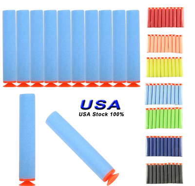100 pcs Foam Suction Refill Bullets Darts For Nerf Kids Gun