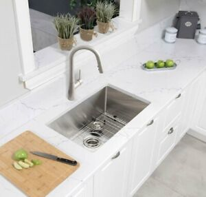32''x18'' Undermount Stainless Steel Single Bowl Kitchen Sink!