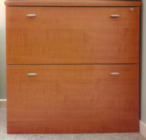 2-drawer Lateral File Cabinet Cherry Finish
