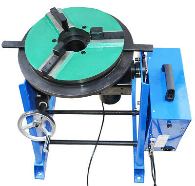 New 110v Machine 100kg Duty Welding Positioner Turntable Timing With 300mm Chuck