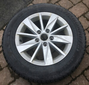 SNOW TIRES WITH VW MAG WHEELS (4)