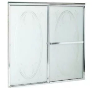 MAAX  shower Tub Doors - frosted glass floral design