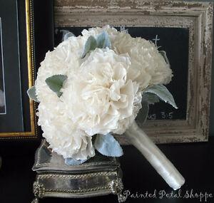 Vintage Ivory Coffee Filter Bridal Bouquet/Custom Order Wedding