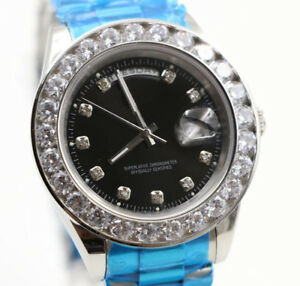 Diamond Bezel Automatic Wrist Watch
