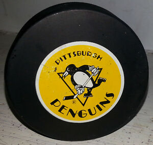 Early Pittsburgh Penguins Game Hockey Puck