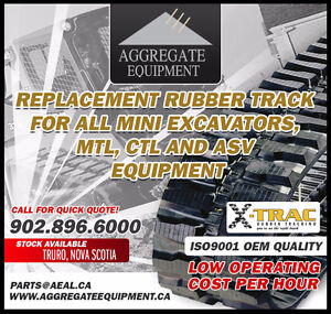 RUBBER TRACKS & UNDERCARRIAGE FOR MINI EXCAVATORS & SKID STEERS