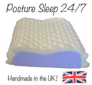 Orthopaedic-Eggcrate-High-Density-Foam-Contour-Pillow-neck-shoulder-back-support