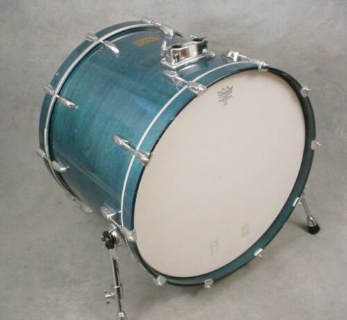 "PEARL SESSION CUSTOM 24"" BLUE STAIN LACQUER BASS DRUM"
