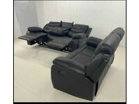 Brand New 3+2 Seater Leather Recliner Sofa Set