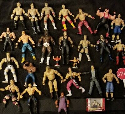 Wrestling Action Figure Lot #4 WWF WCW WWE ECW jakks hasbro mattel toy bundle