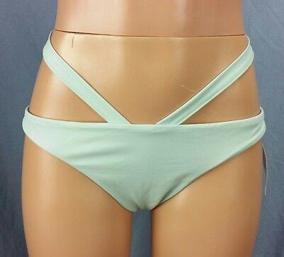 New Kendall & Kylie PacSun Sea Green Cheeky Bikini Bottom size L Large    Mint