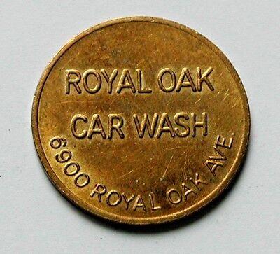 Burnaby BC CANADA Royal Oak Car Wash Self-Service Token - AU+ toned-lustre