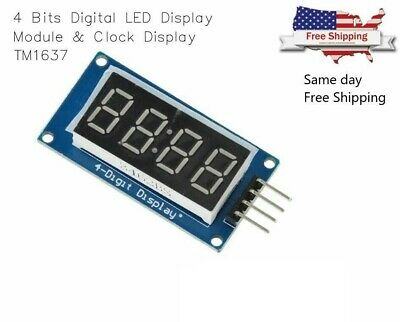 4 Bits Digital Tube Led Display Module With Clock Display Tm1637 For Arduino Diy