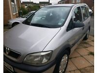 Silver 2004 Vauxhall Zafira Life 1.6L For Sale
