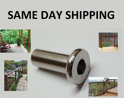 Marine Grade 316 Stainless Steel Protector Sleeve For 18 - 316 Cable Railing