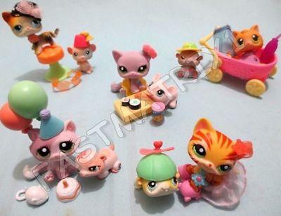 Littlest Pet Shop Lot 7 Random Pcs 1 Cat 1 Mouse 5 Accessories BUY 3 GET 1 FREE