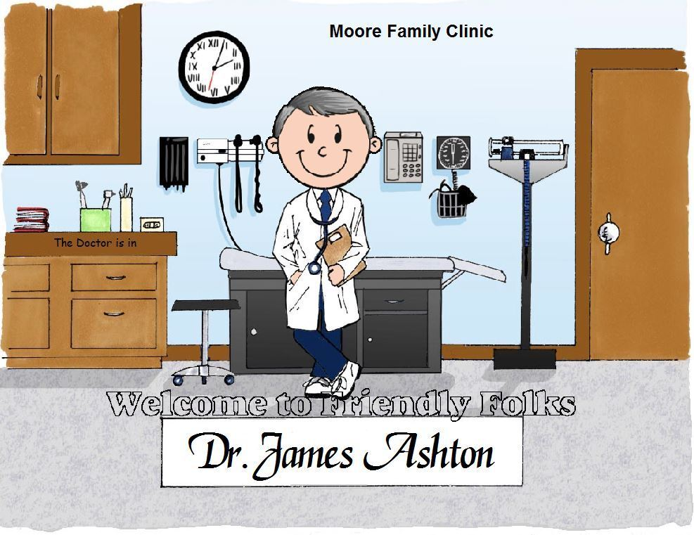 Small Personalized Doctor Picture - Makes A Great Gift  - $8.50