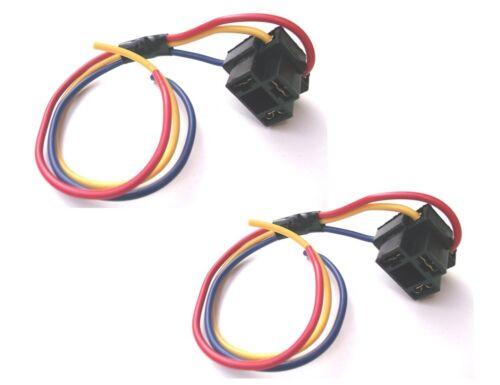Replacement H4 Bulb Holders With leads For H4 Headlamp 3 Pin Type BCH4x2(PE1430)