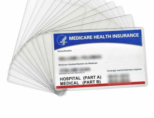 Pack of 1-2-3-5 Credit Card Size Plastic Sleeve for Social Security MedicareCard