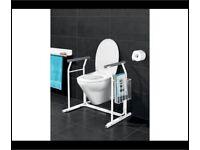 Toilet free standing fame