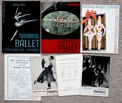 Vintage NATIONAL BALLET OF CANADA Archive PROGRAM LOT / Guest RUDOLF NUREYEV