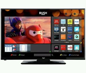 Bush 24 Inch HD Ready Freeview Smart LED TV/DVD Combi - Black. Built-in Wi-Fi.