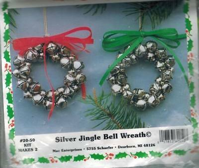 Silver Jingle Bell Wreath Ornament KIT Christmas Craft for Kids Makes 2 Holiday