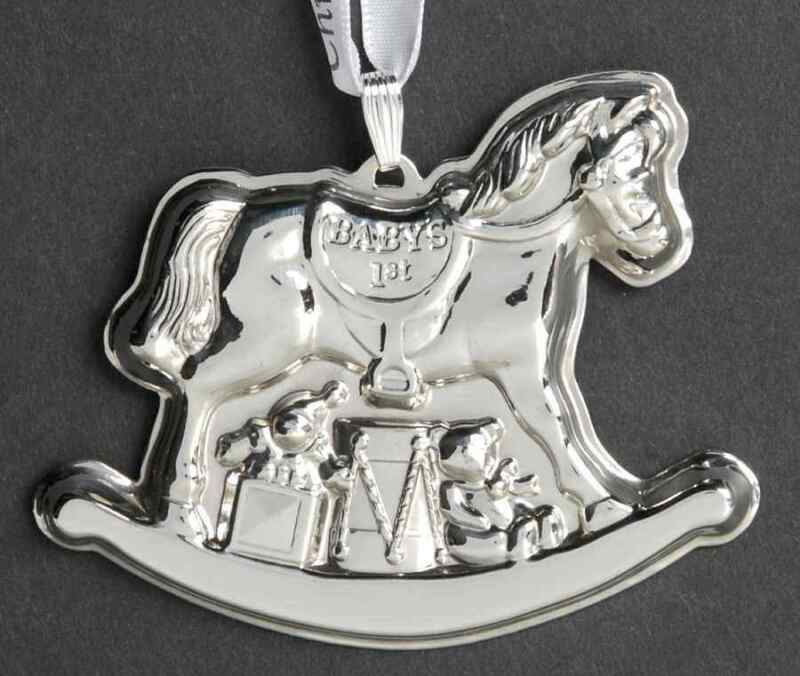 Reed & Barton Babys First Christmas-Sterling Rocking Horse - Boxed 8348401