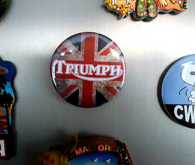Triumph Union Jack - Fridge Magnet - 58mm diameter