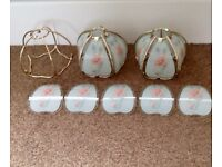 Light shades, with spares.