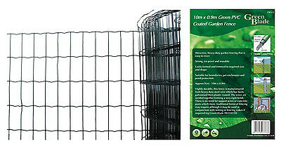 Garden Fence PVC Coated Green Plastic Wire Vinyl Netting Fencing Patio Protect