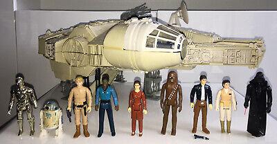 Star Wars Vintage Millenium Falcon Complete & Action Figures Bundle Kenner 1980