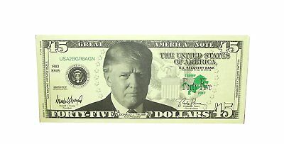 A Ross & Company Donald Trump Novelty 45 Dollar Bill, 25 count  #401693 (Novelty Companies)