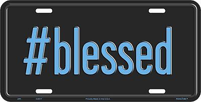 #blessed License Plate Wall SIGN Man Cave Made in the USA