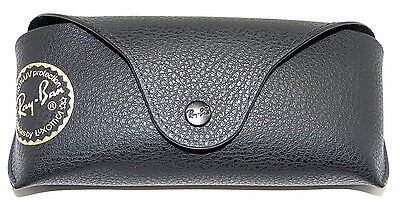 Authentic Ray-Ban Black Leather Sunglasses Case RG2/3