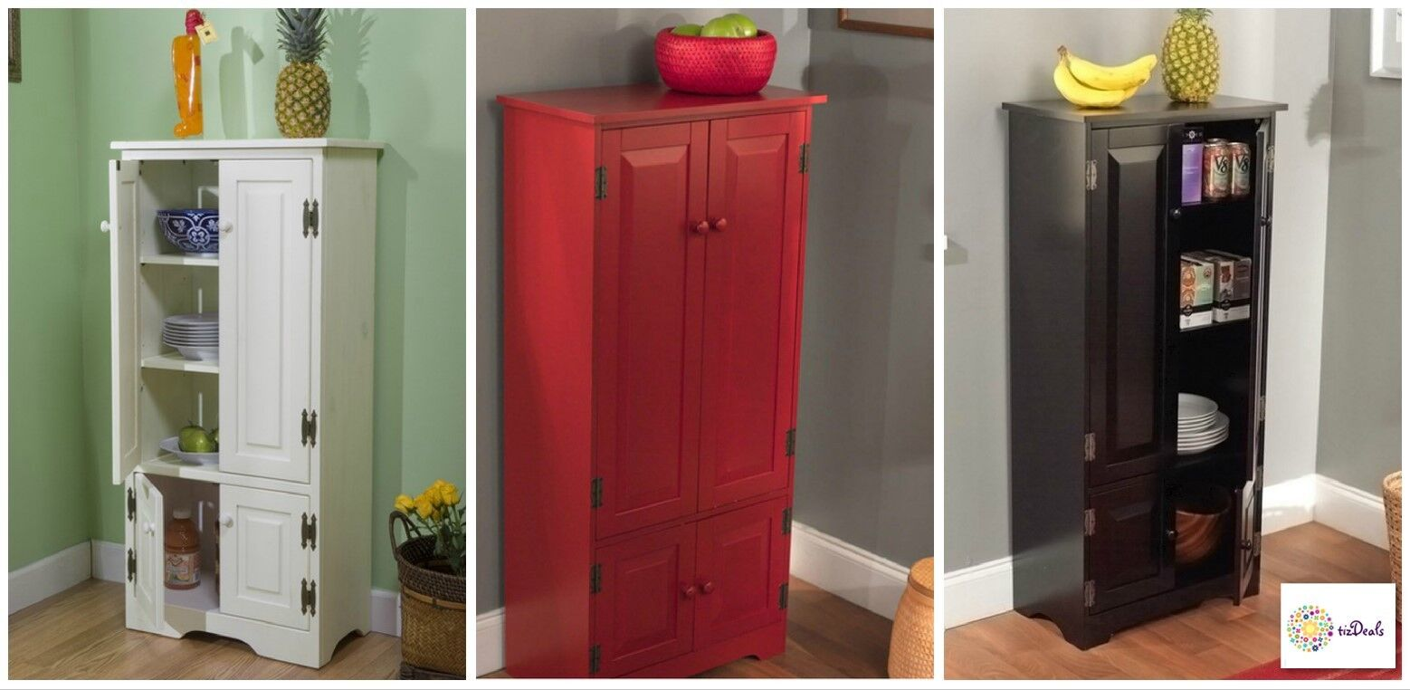 Tall Kitchen Cabinet Pantry Storage Bath Laundry Room