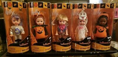 NRFB Set of 5 HALLOWEEN KELLY & LIL FRIENDS in Costumes 2000
