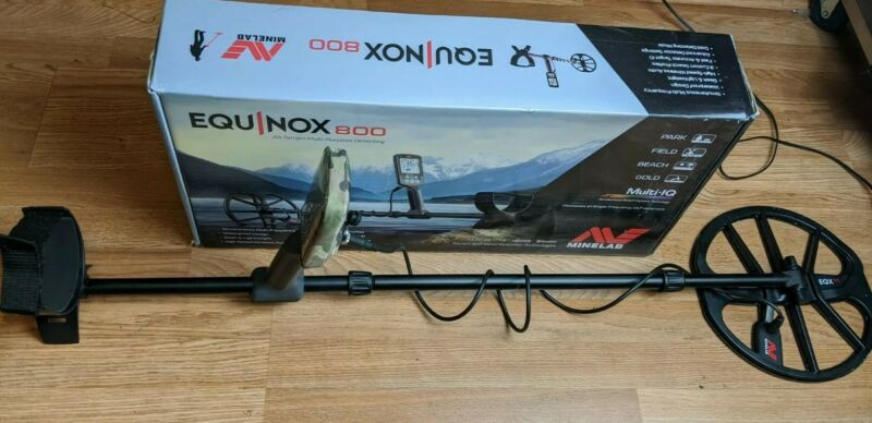 Minelab Equinox 800 Metal Detector Only Used a Few Times!