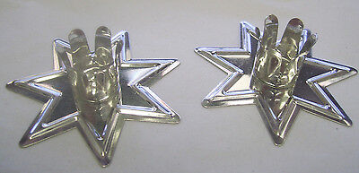 """A Pair of Silver Fairy Star Chime Candle Holders for 4"""" Candles Pagan Wicca (2)"""