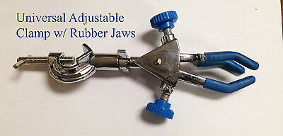 Universal Adjustable Retort Clamp With Rubber Jaws