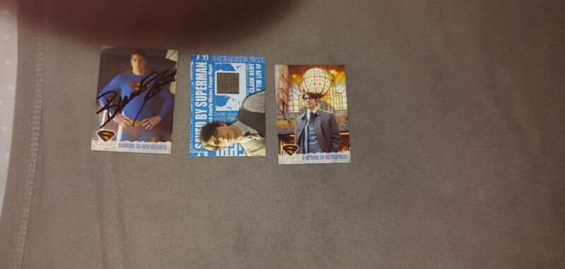 Brandon routh signed Card Set