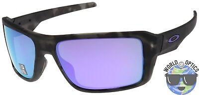 Oakley Double Edge Sunglasses OO9380-0466 Black Tortoise | Violet Iridium (Oakley Double Lens Sunglasses)