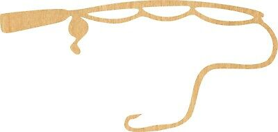 Fish Cut Out (Fishing Pole #0507 Laser Cut Out Wood Shape Craft Supply -)