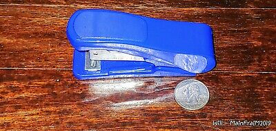 Small Blue Stapler Quarter Not Included Gets Stuck Sometimes Easy Fixed
