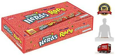 Nerds Rope Rainbow Candy Package 24 Count Pack Fat Free All Natural - Rope Candy