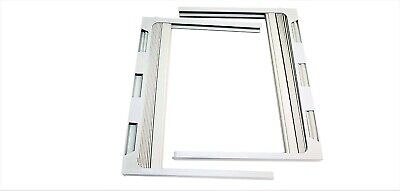 1 pair air conditioner window frames with side curtain set L&R (AC-2950-65)