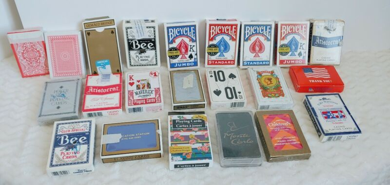 Playing Cards Lot Of 22 Decks