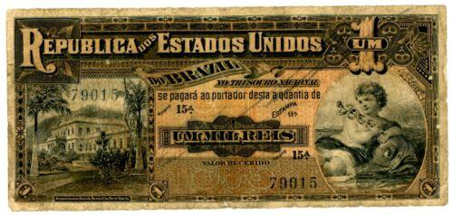 Brazil … P-5a … 1 Mil Reis  … ND(1917)E9a ... *F*.
