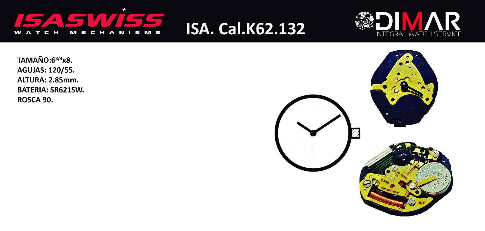 movement isa cal k62 132